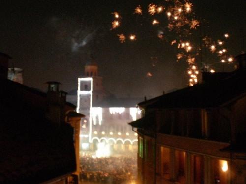 capodanno modena in piazza in centro storico foto